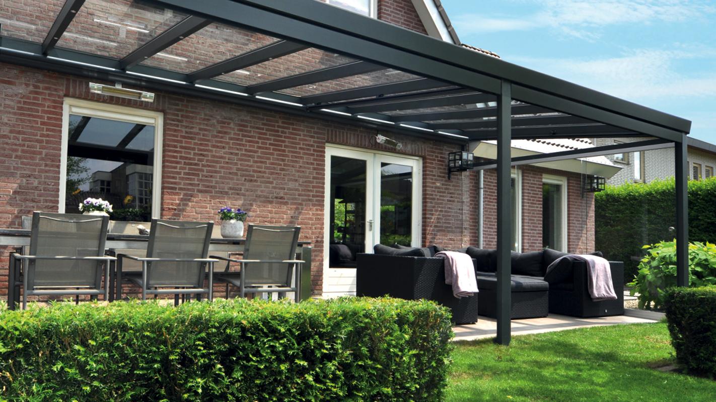 profiline veranda 700x400cm glasdak