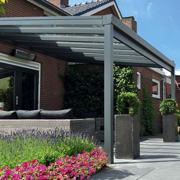 profiline veranda 500x400cm glasdak